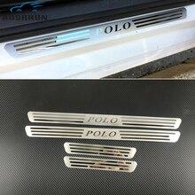 Embellecedor de puerta lateral de acero inoxidable para coche, embellecedor de acero inoxidable para puerta de alféizar, accesorios para coche, VW, VOLKSWAGEN, POLO, 2009, 2010, 2007 2012
