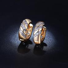 VNFURU 2019 New Arrival White Zircon Stud Earrings Gold Vintage For Wedding Wholesale Hot Gifts Design Luxury Jewelry