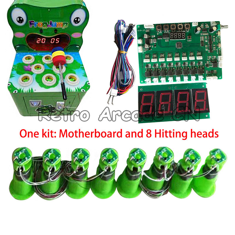 Motherboard with wires and 8 hitting heads parts kit for DIY Kids Coin Operated Hammer Hit