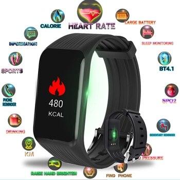 47b67ad17f96 BINSSAW 2019 nuevo reloj inteligente de las mujeres de los hombres Fitness  Tracker de Monitor de presión arterial inteligente reloj deportivo para ios  ...