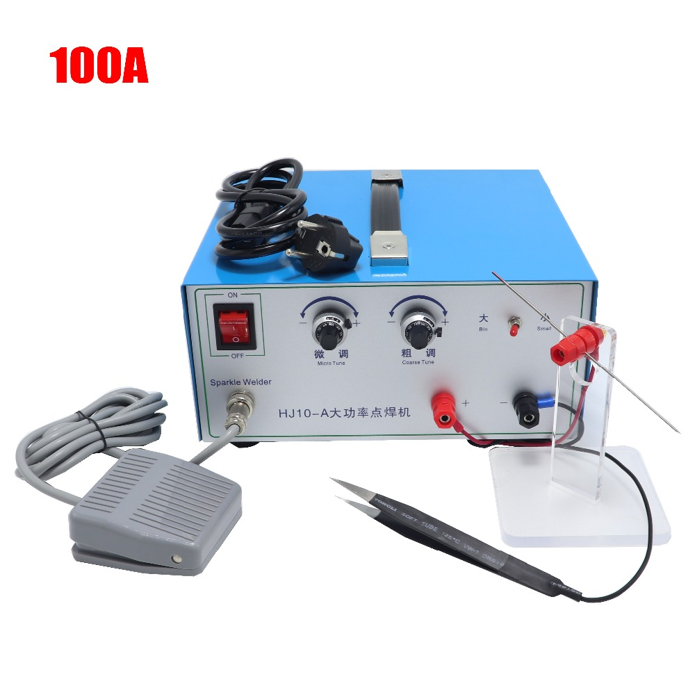 100A jewelry spot welding machine gold and silver copper ring necklace welding machine handheld laser pulse