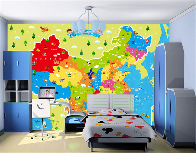 Photo Wallpaper Children Cartoon Animal China Map Travel Wall Painting  Living Room TV Background Wall Mural Wallpaper Part 50