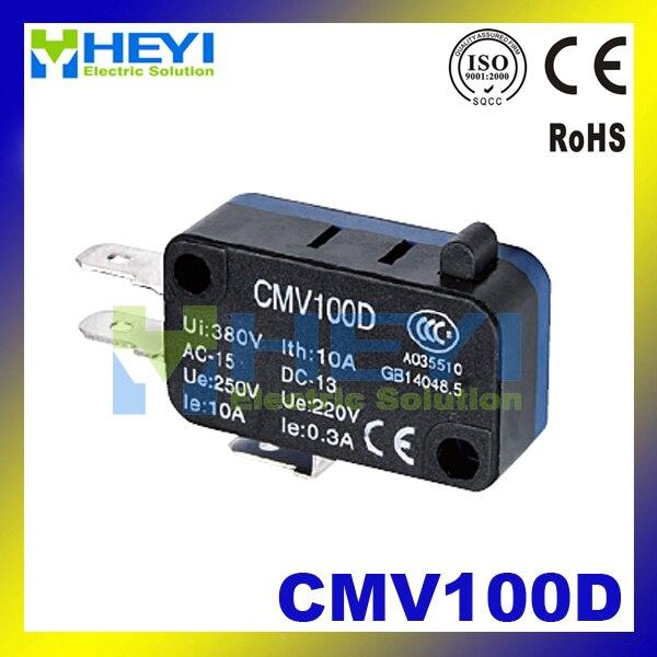 Cmv100d Малый концевой выключатель 220 В 0.3a SPDT мгновенного Микровыключатель