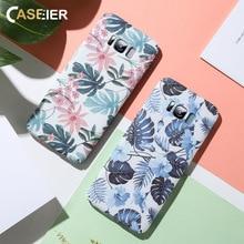 CASEIER Literary Leaves Case For Samsung Galaxy A7 2018 S8 S9 Plus Hard Phone Bags S10 E S7 Edge Note 8