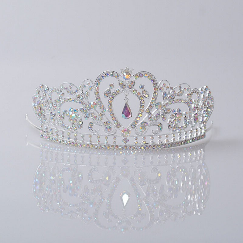 HTB1JrgQJpXXXXXgXVXXq6xXFXXXD Glamorous Wedding Pageant Prom Rhinestone Crystal Crown For Women - 5 Colors