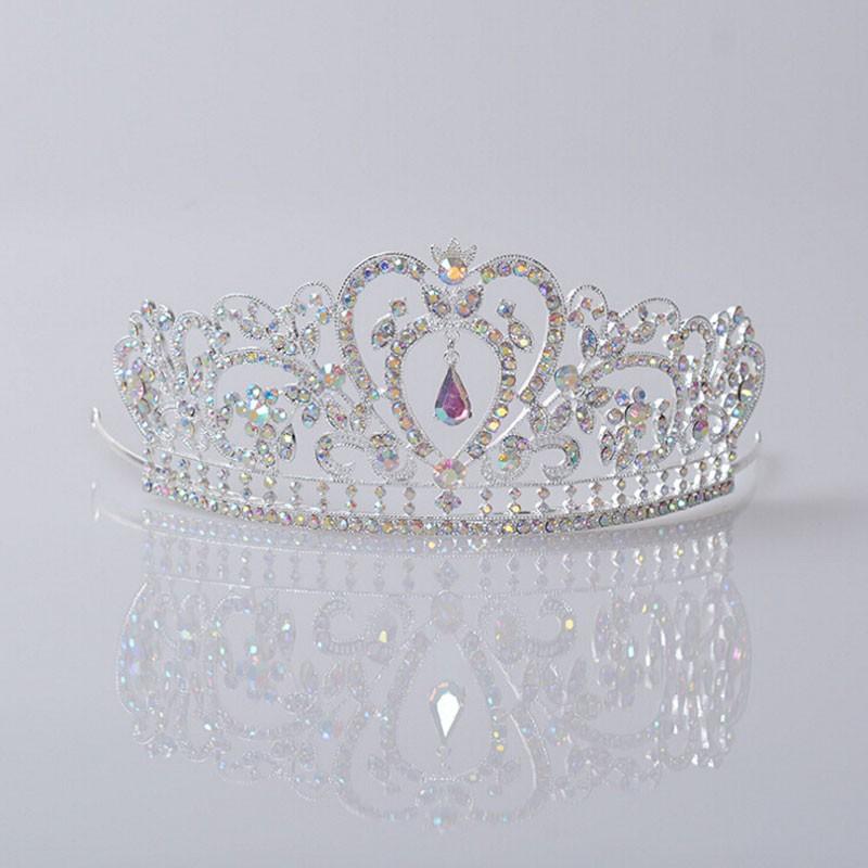 HTB1JrgQJpXXXXXgXVXXq6xXFXXXD Glamorous Wedding Pageant Prom Rhinestone Crystal Crown For Women - 5 Colors