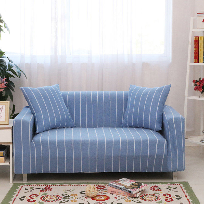 Slipcover Furniture Living Room: Plaid Striped Slipcover Sofa Cover For Living Room Tightly