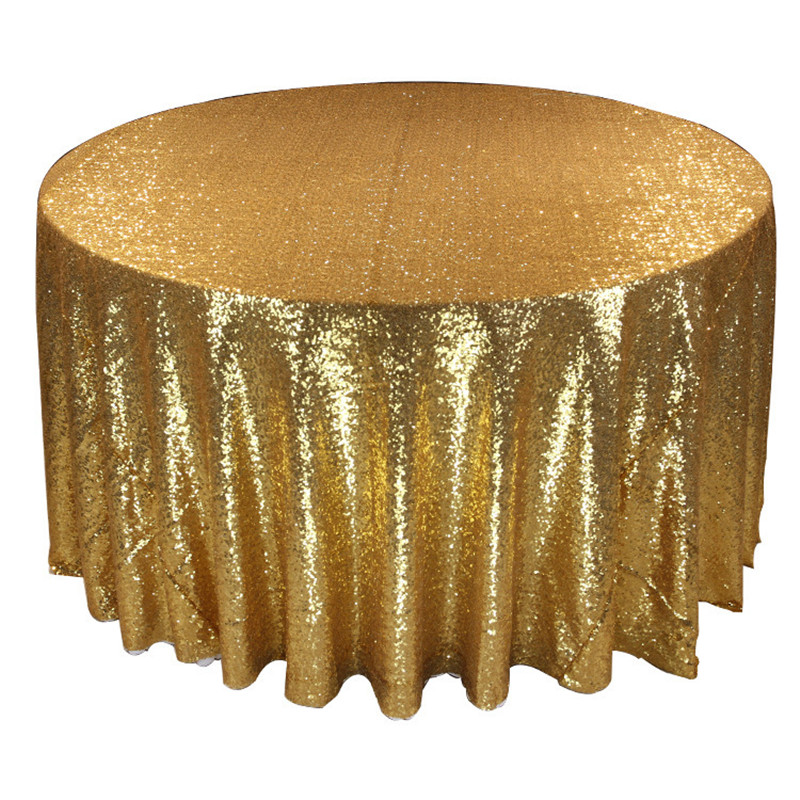 Champagne Rose Gold Silver Navy Blue 90inch Glitter Table