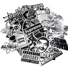 Pvc Stickers 50pcs/lot Metallic Color Black and White