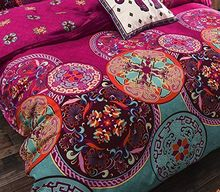 Bohemian Oriental Mandala Bedding Quilt Duvet Cover Set 3pcs bedding set