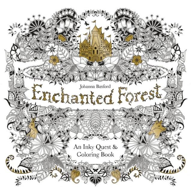 96 páginas Enchanted Forest libros para colorear para adultos niños ...