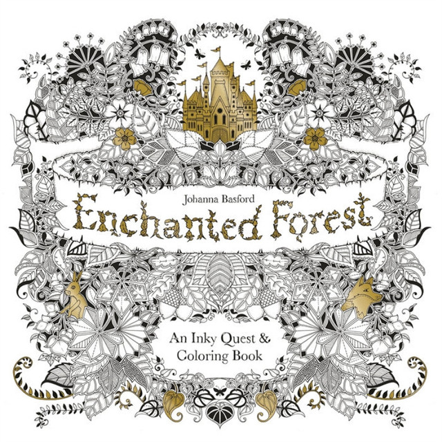 96 Pages Enchanted Forest Coloring Books For Adults Kids Relieve Stress Kill Time Graffiti Painting Book Libros 25cm X