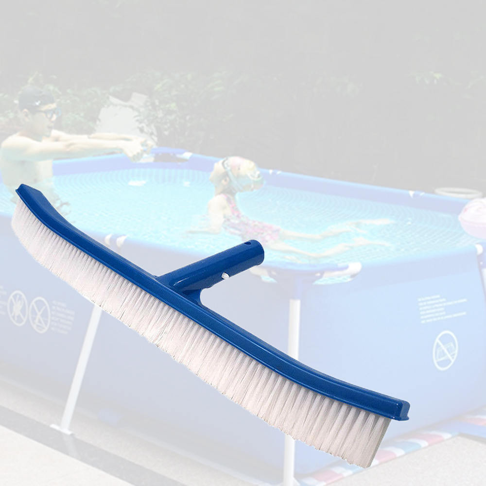 Swimming Cleaning Tools 18 Inch Blue Swimming Pool Brush PVC Frame Handle Clean Brush Pool Cleaning Equipment