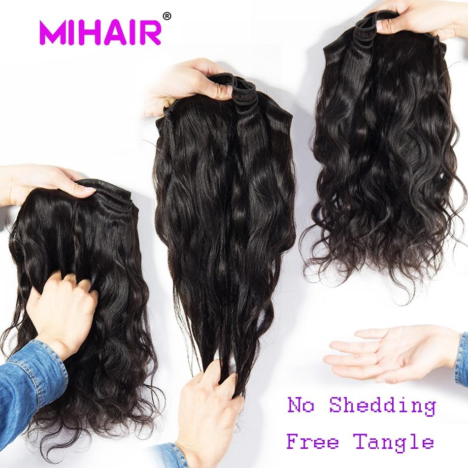 Indisk hårkroppsvåg Human Hair Bundles 1/3/4 Bundles Human Hair - Mänskligt hår (svart) - Foto 6