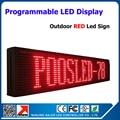 Красный цвет из светодиодов движущихся текстовый дисплей из светодиодов sceen из светодиодов знак, Открытый из светодиодов табло p10 16 * 128 пикселей дор матрица