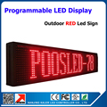 Outdoor red color led moving text display led sceen led sign,outdoor led display board p10 16*128 pixel dor matrix