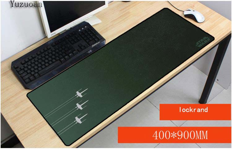 Yuzuoan Star Wars pad to Mouse Notbook Computer Small Plane Mousepad Overlock Edge Big Gaming Padmouse Gamer to Laptop Mouse Mat