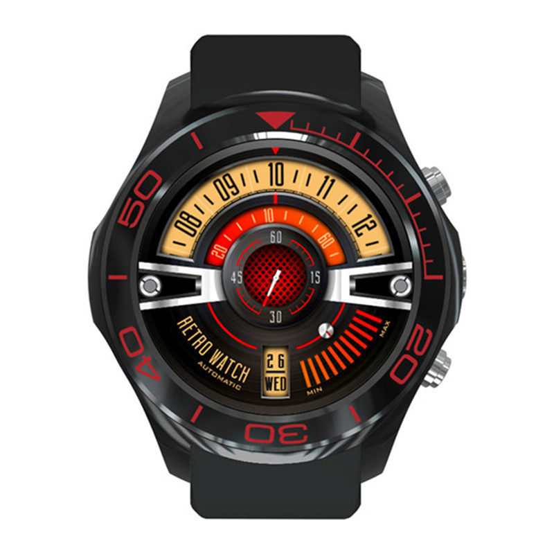 Sport smart watch 3G Fashion Round Screen Smart Watch with WIFI GPS Positioning Bluetooth Phone Wechat Heart Rate with Camera