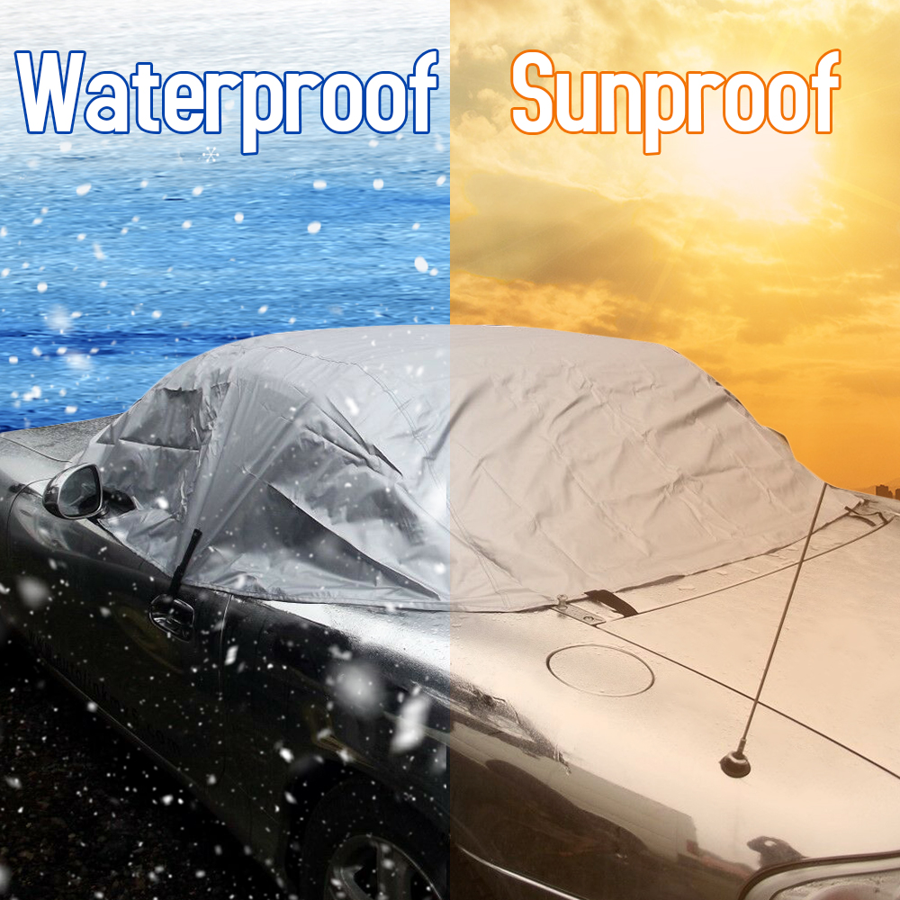 Car Cover Soft Top Roof Protector Half Outdoor Sun Protection Cover Dust Rain Snow Protective Fit For Mazda MX-5 MK1 MK2 MK2.5
