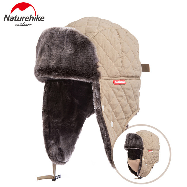 Naturehike Outdoor Winter Fishing Cap Ear Protection Warm Hat Windproof  Mask Ushanka Trapper Hats Adjustable for Man And Women-in Fishing Caps from  Sports ... 7500fad9d3b