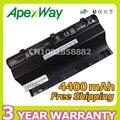 Apexway 4400 mah 14.8 v 8 células de bateria do portátil para asus g75 g75vw g75v g75vx g75v3d g75vm3d g75vm g753d g75vw3d