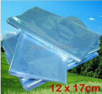 12 x 17 cm PVC Heat Shrinkable Bags Film Wrap Cosmetic Packaging Wrap Materials 500 pcs