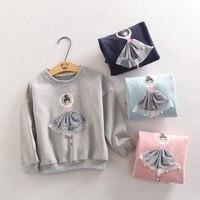 Baby Girls Tops Chlidren T Shirts Long Sleeve 2017 Autumn Winter Kids Tee Shirt Warm Fleece