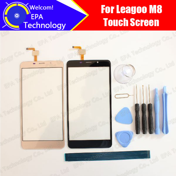 Leagoo M8 Digitizer Touch Screen 100% Guarantee Original Glass Panel Touch Screen Digitizer For M8 Free Shipping