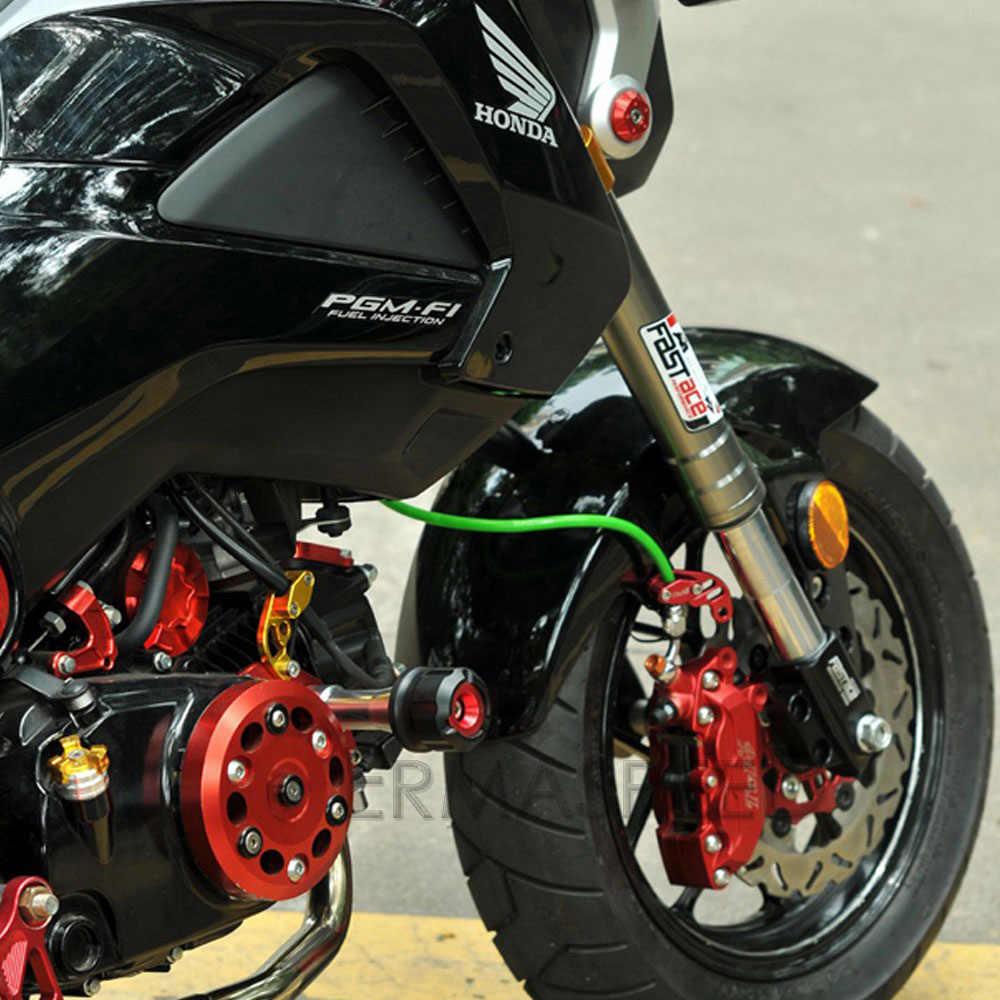 Pair CNC Aluminium Motorrad Rahmen Sliders Crash Pad Verkleidung Protector Geändert Zubehör Schwarz Rot Gold Blau für Honda MSX125