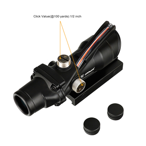 Image 5 - ohhunt Hunting 4X32 Real Fiber Scope BDC Triangle Horseshoe Reticle Tactical Optical Sights for cal .223 .308 Print LOGO