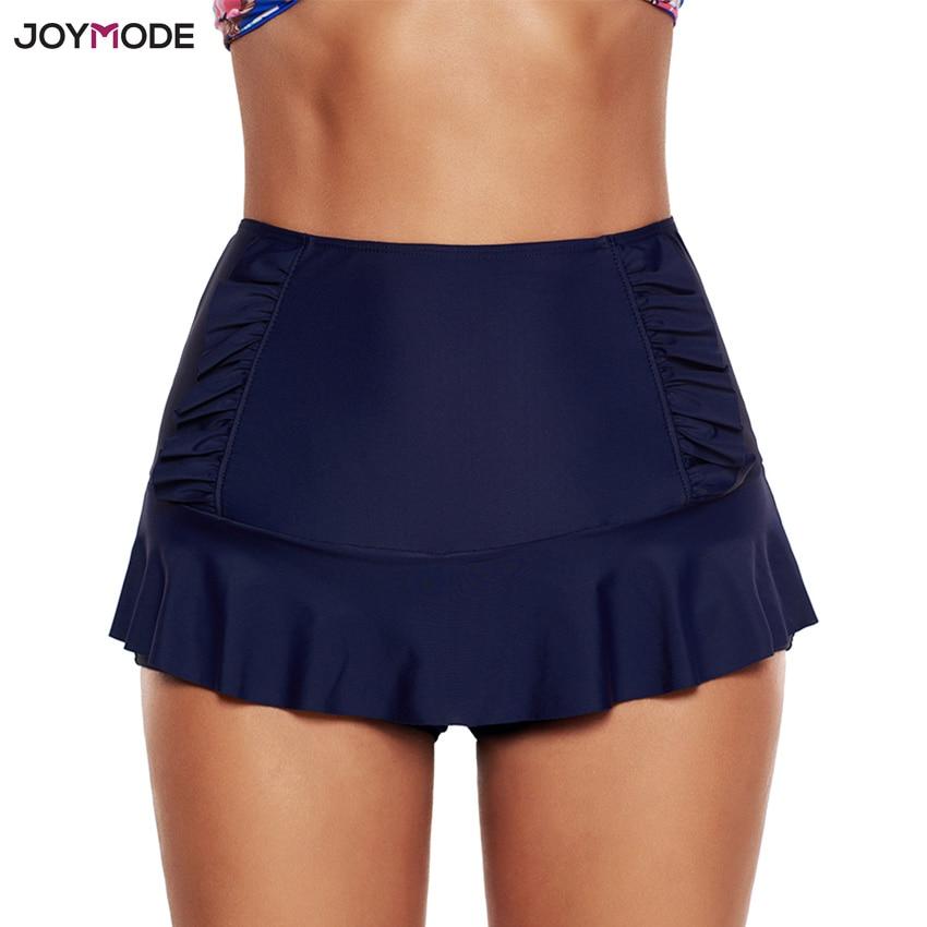 JOYMODE Swimming Dress Plus Size High Waist Swimming Trunks Quick Dry Mini Skirt Breathable Sports Running Beach Wear