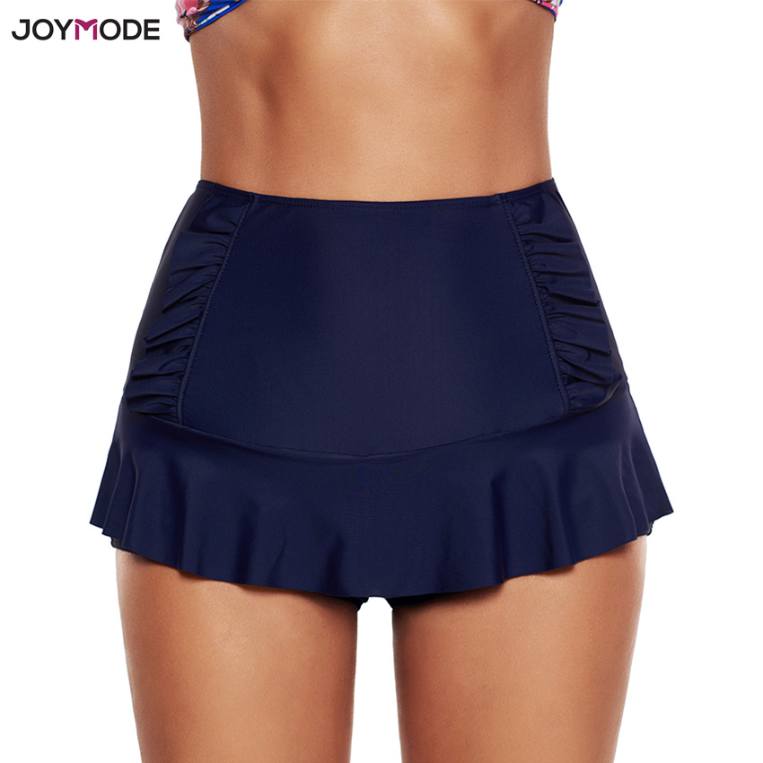 JOYMODE Quick Dry Sexy swimwear 2018 women plus size high waist swimming trunks with skirt Breathable sports Running Beach wear