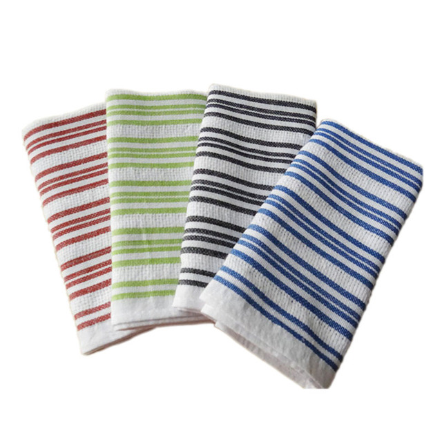1b44552caf1b 42 66cm Blue Striped Kitchen Towels Europe Style 2018 New Table Napkin 100%  Cotton Dish Towel Cleaning Cloth Tea Coffee Pads Mat