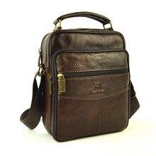 Männer Echte Leder Umhängetasche Crossbody Schulter Schultasche Für Männer Geschäfts Mode Lässig Desinger Klassische 5 Zip Arbeit Taschen