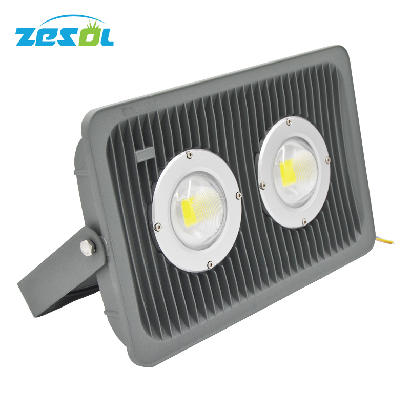ZESOL 100W Outdoor LED projector lighting flood lights IP65 Waterproof 85-265v Cold White/Warm White/Natural White 10 Pcs / lot