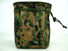 Small Capacity Military Tactical Airsoft Paintball Hunting Folding Mag Recovery Dump Pouch W/ Molle Loop and Hook