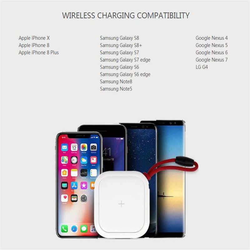 MIPOW 10000mAh Qi Wireless Charger Quick Charge Portable Power Bank For  iPhone X Samsung Xiaomi Dual USB Ports External Charger