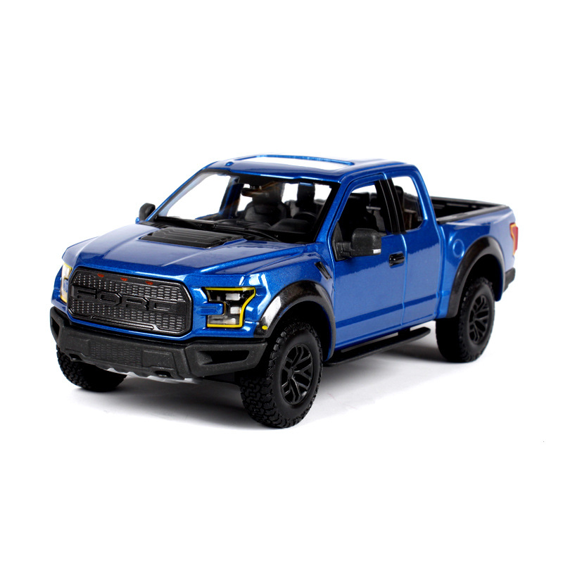 1:24 The Ford F150 Pickup Raptor Simulation Alloy Model Car Decoration high simulation car 1 46 scale alloy pull back ford f150 pickup truck raptor soil version alloy car model toys free shipping