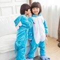 Kigurumi Animais Onesies Pijama Elefante Dos Desenhos Animados Elefante Azul Fantasias Para Crianças Crianças Festa Festival Cosplay Pijamas de Inverno