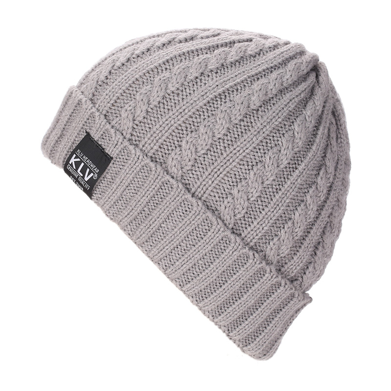 0428c268a7b 2017 Hot Sale Solid Stripe Women s Hat Female Winter Hats For Men Sport  Beanies Cap Knitted Boy Braid Gorros Warm Men s Caps em Skullies   Gorros  de ...