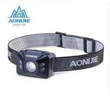 AONIJIE Outdoor Sports Safety Warning Night Waterproof Headlight Night Running Flashlight Warning Lights Battery Headlamp
