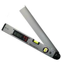 Цифровой электронный транспортир Угол finder уровень измерительный прибор измеритель Инклинометр линейка 0-225 градусов 400 мм металлический ма...