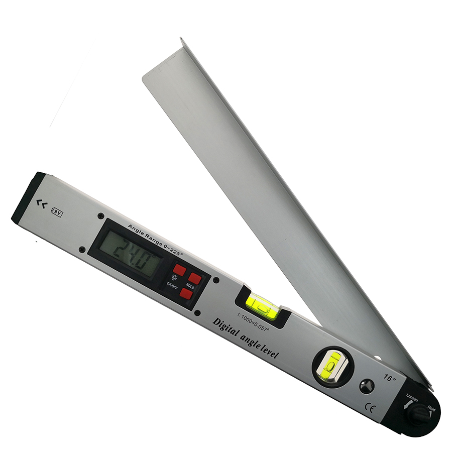 Medidor de medición del nivel del buscador de ángulo del Protractor electrónico Digital regla inclinómetro 0-225 grados material de metal de 400 MM
