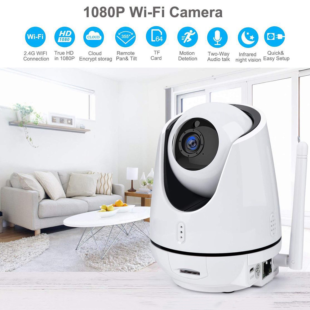 FREDI 1080P Wireless Home Security IP Camera WiFi 2.0MP Two-way Audio Baby Monitor Camera Surveillance Night Vision CCTV Camera anran 1080p ip camera wifi home video surveillance camera night vision security camera two way audio baby monitor