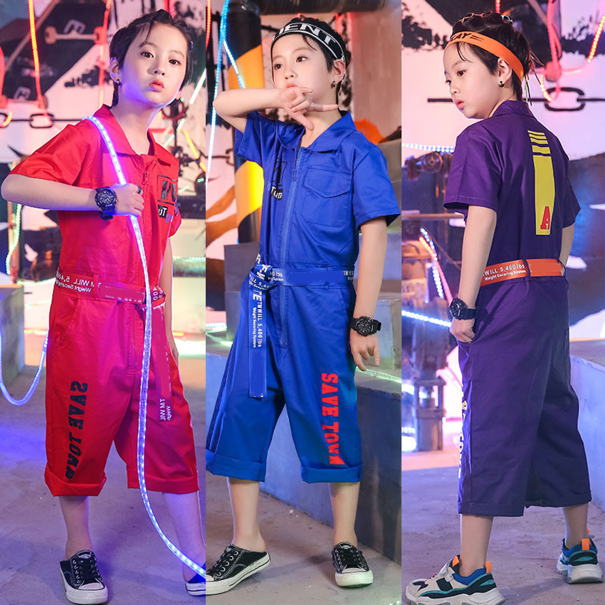 ZJHT Teenager Girl Boy Rompers For Hip Hop Rocker B-box Performance Children Clothing Baby Short Sleeve Sets Cotton Suits LM004ZJHT Teenager Girl Boy Rompers For Hip Hop Rocker B-box Performance Children Clothing Baby Short Sleeve Sets Cotton Suits LM004