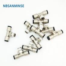 Nbsanminse 10 шт/лот pbp m5 1/8 1/4 3/8 1/2 латунный фитинг