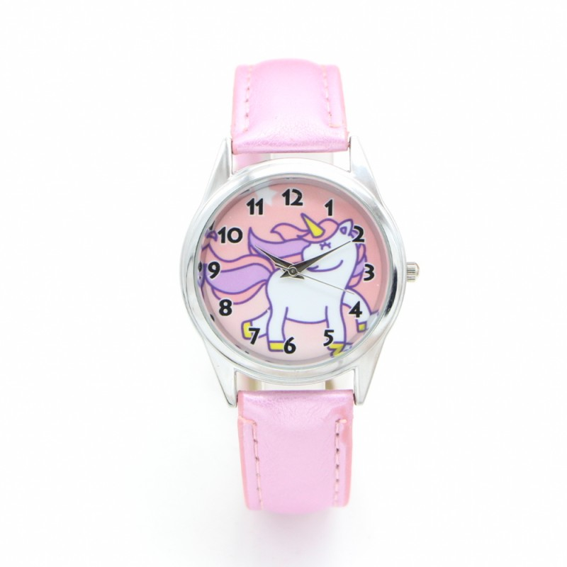 New Unicorn Desgin Kids Cartoon Watch Fashion Child Watches Quartz Children Jelly Boy Student Wristwatch Relogio Kol Saati Clock