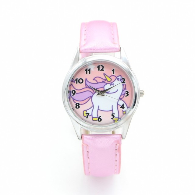 New unicorn desgin kids cartoon Watch Fashion child Watches Quartz children Jell