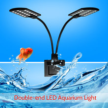 AC220V 10W 32 Led Dual-End Aquarium Light Fish Jar Lamp Flexibele Buigbare Verlichting Hoek Wit Draagbare Voor vis Tanks