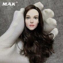1/6 Scale Ellen Page female women Head Sculpt girl Head Carving Model For 12